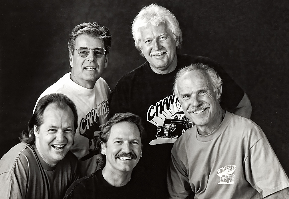 Chantays - L-R Ricky Lewis, Brian Carmen, Bob Spickard, Bob Welch and Gil Orr