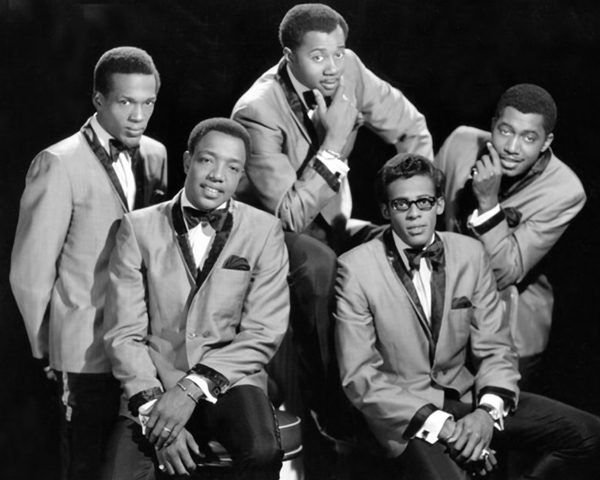 L-R: Eddie Kendricks, Paul Williams, Melvin Franklin, David Ruffin, Otis Williams Photo courtesy of Getty Images
