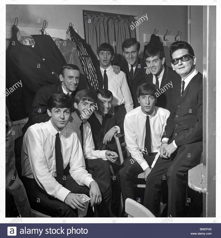 The Beatles with Roy Orbison and Gerry and The Pacemakers, photo Harry Hammond. UK, 1963